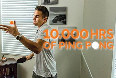 10,000 Hours of Ping Pong?